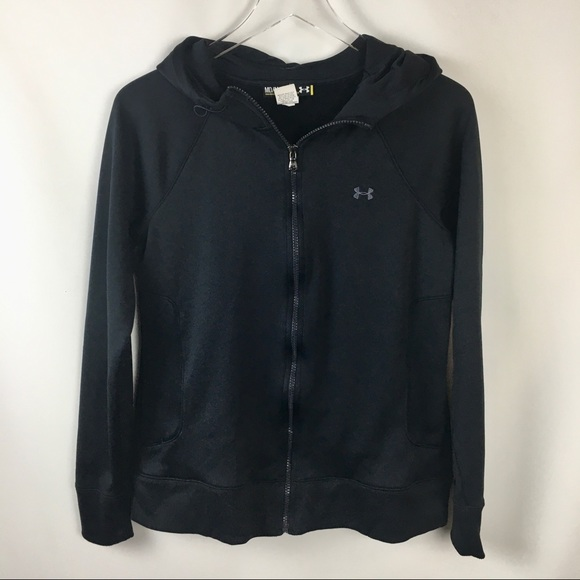 Under Armour Jackets & Blazers - Under Armour Black Athletic Hoodie Full Zip Jacket
